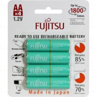 BATERAI - BATTERY AA FUJITSU 1900 maH RECHARGEABLE 4 PCS rechargerable charger