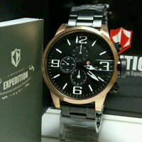 Jam Tangan Pria Expedition E6386 Black Gold Original