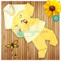 Kiddie Wear Moslem Frozen Size M Color Yellow For Girls Age 6M - 9M