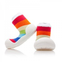 Attipas Baby Shoes Rainbow - White
