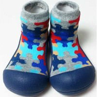 Attipas Baby Shoes Puzzle - Navy