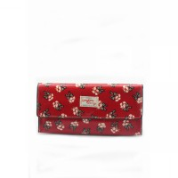 London Berry by HUER - Bridget Printed Flap Walet Red