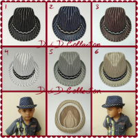 D & D Hat Collection Topi Fedora Jazz Anak Motif Salur