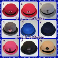 D & D Hat Collection Topi Bowler / Topi Fedora Chaplin Anak