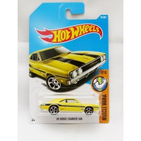 Hotwheels 69 Dodge Charger 500 - Mooneyes - kuning