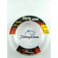 Team Kamikaze SEA LION Shock Leader 100M Clear - 30LB