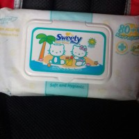 TISSU BASAH SWEETY BABY WIPES NON PARFUMED