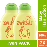 [TWIN PACK] Zwitsal Baby Hair Lotion Natural Avks - 200ML