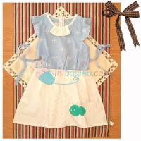 Kiddie Wear Suit Lace Polka Size 9 Color Blue For Girls Age 3YR - 4YR