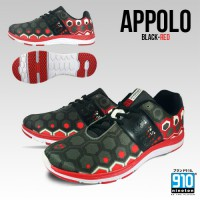 910 Sepatu Lari Apollo Black / Red / White