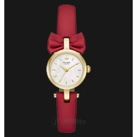 Kate Spade KSW1058 Mini Bow White Dial Red Leather Strap Watch