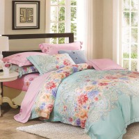 Sleep Buddy Set Sprei dan Selimut Classic Floral Organic Cotton Queen Size