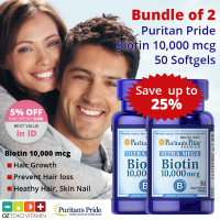 [BUNDLE 2 SALE 25%] Puritans Pride Ultra Biotin 10.000mcg 50 Softgel Vitamin Penumbuh Rambut
