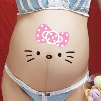 Stickers On Belly ( Stiker foto perut couple / family ) Kitty