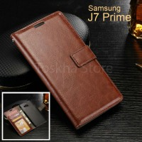 Wallet Case Samsung J7 Prime 2016 Premium Leather Case