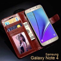 Wallet Case Samsung Note 4 Flip Leather Case