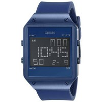 [macyskorea] GUESS Mens U0595G2 Trendy Blue Stainless Steel Watch with Digital Dial and Bl/15029084
