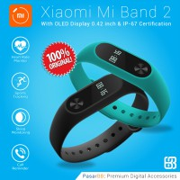 Xiaomi Original Mi Band 2 Smartwatch 0.42' OLED Display with Heart Rate Monitor - Hitam