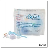 Dr Brown Browns Microwave Steam Sterilizer Bags Plastik Traveling