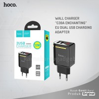 POP UP HOCO Wall charger C39A Enchanting EU dual USB charging adapter