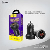POP UP HOCO Z22 Double USB port car charger with digital display