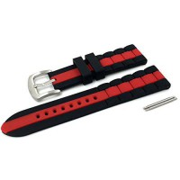 [macyskorea] Sanwa 22mm Two-tone Black and Red Hypo-Allergenic Mens Silicone Rubber Watch /15782099