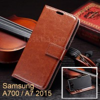 Wallet Case Samsung A700 A7 2015 Premium Leather Case