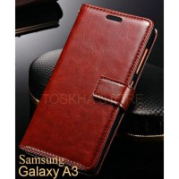 Wallet Case Samsung A300 A3 2015 Premium Leather Flip Case
