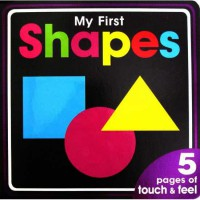 [HelloPandaBooks] My First Shapes Board Book with touch and feel textures