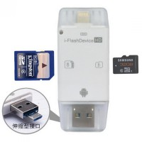 i-Flash Multifunction Device OTG Android USB Adapter with Card Reader Slot