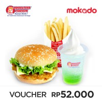 Chicken Sandwich + French Fries Medium + Fun Float - BROOASTER CHICKEN [20 Branch]