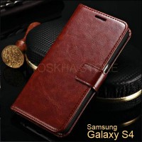 Wallet Case Samsung S4 i9500 Premium Leather Flip Case
