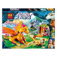 Bela Toy Brick Elves Fire Dragon's Lava Cave 446pcs