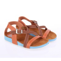 Catenzo Junior Sandal Flatbed Anak CKKx053 Orange Brown