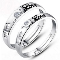 [1 + 1] Cincin Pasangan | Tie The Knot Dolphin Love Couple Rings for Female
