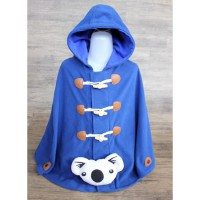 CUDDLE ME - DUFFLE CAPE MULTIFUNCTION JACKET FOR KIDS - ROYAL BLUE
