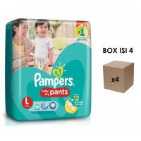 Pampers Popok Baby Dry Pants - L 26 - Karton Isi 4
