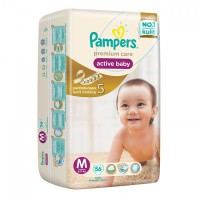Pampers Popok Diapers Premium Care Active Baby Tape - M 56