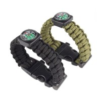 Gelang Tactical Paracord Survival Bracelet With Magnesium (outdoor / blackhawk / hunting / hicking)
