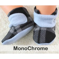 CUDDLE ME FITTED BABY BOOTIES - MONOCHROME