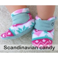 CUDDLE ME FITTED BABY BOOTIES - SCANDYNAVIAN CANDY