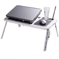 Meja Laptop portable cooling fan E Table