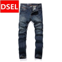 [globalbuy] Casual Jeans Men Straight Denim Dark Jeans Trousers Designer Logo Brand Dsel J/4204257