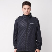 AIRWALK- retractable hooded windbreaker jacket