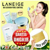 Paket LANEIGE BB Cushion Pore Control No.23 Sand Beige, Multi Cleanser 100ml