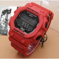 JAM TANGAN SPORT PRIA DIGITEC DG 2012 FULL RED ORIGINAL