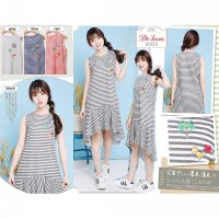 Embroise stripe dress