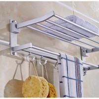 Bathroom Rack For Towel and Clothes Multi function with Hook