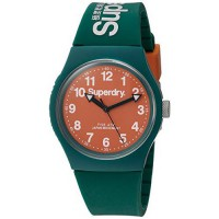 [macyskorea] Superdry Urban Quartz Plastic and Silicone Dress Watch, Color:Green (Model: S/15779543