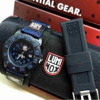 LML01BBL Jam Tangan Pria Luminox Free Box dan Tali Rubber BLACK BLUE